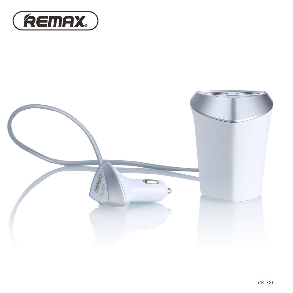 Remax-3-4A-Smart-Car-Charger-Cigarette-Lighter-Adapter-with-LED-display-3-USB-Port-Dual